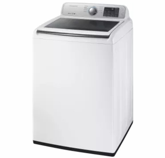 Wa45m7050aw Samsung 27 4 5 Cu Ft Top Load Washer With Vrt Plus Technology And Self Clean White