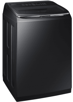 "WA52M8650AV Samsung 27"" 5.2 cu. ft. Top Load Washer with ActiveWash and Integrated Controls - Black Stainless Steel"