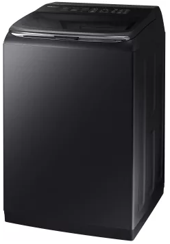 "WA54M8750AV Samsung 27"" Top Load Washer 5.4 cu. ft. High-Efficiency Top Load Washer with Activewash and Steam - Black"