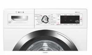 """WAW285H2UC Bosch 24"""" 800 Series Compact Front Load Washer with AquaStop Plus and SpeedPerfect  - White"""