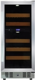 "WC28DZ Fagor 15"" Tower Dual Zone Wine Cooler with Digital Touch Controls and Sabbath Mode - Stainless Steel"