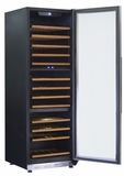 "WCF143S3ST Avanti 24"" 143 Bottle Designer Series Triple Zone Wine Chiller with Seamless Door and Pull Out Wooden Shelves - Stainless Steel"