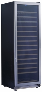 "WCF165S3SS Avanti 24"" 165 Bottle Designer Series Wine Chiller with Seamless Door and Pull Out Wooden Shelves - Stainless"