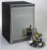 WCR5404DZD Avanti Built-In or Free Standing Dual Zone Wine Cooler with Reversible Mirrored Glass Door - Black and Stainless Steel