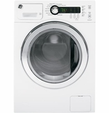 WCVH4800KWW GE E 2.2 DOE Cu. Ft. Capacity Frontload Washer with Stainless Steel Basket - White