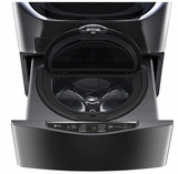 "WD100CK LG 27""  SideKick 1.0 Cu. Ft. 6-Cycle High-Efficiency Pedestal Washer - Black Stainless Steel"