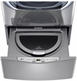"WD100CV LG 27"" SideKick 1.0 Cu. Ft. 6-Cycle High-Efficiency Pedestal Washer - Graphite Steel"