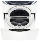 "WD100CW LG 27""  SideKick 1.0 Cu. Ft. 6-Cycle High-Efficiency Pedestal Washer - White"