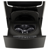 "WD205CK LG 30"" SideKick 1.0 Cu. Ft. 6-Cycle High-Efficiency Pedestal Washer - Black Stainless Steel"