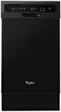 "WDF518SAFB Whirlpool 18"" Compact Tall Tub Dishwasher with Stainless Steel Interior - Black"