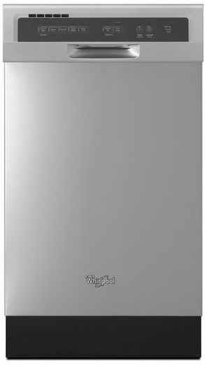 """WDF518SAFM Whirlpool 18"""" Compact Tall Tub Dishwasher with Stainless Steel Interior - Monochromatic Stainless Steel"""