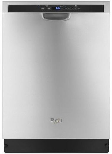 """WDF560SAFM Whirlpool 24"""" Dishwasher with Adaptive Wash Technology - Stainless Steel"""