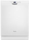 "WDF560SAFW Whirlpool 24"" Dishwasher with Adaptive Wash Technology - White"