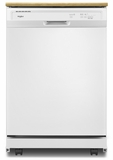 "WDP370PAHW Whirlpool 24"" Heavy Duty Dishwasher with 1 Hour Wash Cycle and Soil Sensor - White"
