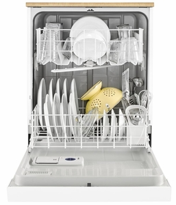 """WDP370PAHW Whirlpool 24"""" Heavy Duty Dishwasher with 1 Hour Wash Cycle and Soil Sensor - White"""