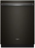 "WDT730PAHV Whirlpool 24"" Top Control Built-In Tall Tub Dishwasher with Sensor Cycle and 5 Wash Cycles - Black"