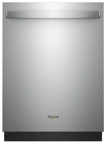"WDT730PAHZ Whirlpool 24"" Top Control Built-In Tall Tub Dishwasher with Sensor Cycle and 5 Wash Cycles - Stainless Steel"