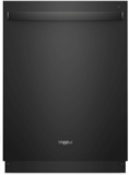 "WDT750SAHB Whirlpool 24"" Fully Integrated Dishwasher with Adjustable Upper Rack and 15 Place Setting Capacity - Black"