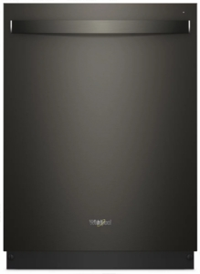 """WDT750SAHV Whirlpool 24"""" Fully Integrated Dishwasher with Adjustable Upper Rack and 15 Place Setting Capacity - Black Stainless Steel"""
