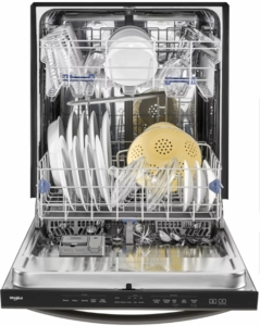 "WDT750SAHV Whirlpool 24"" Fully Integrated Dishwasher 15 Place Setting Capacity - Black Stainless Steel"