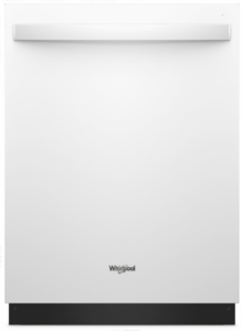 "WDT750SAHW Whirlpool 24"" Fully Integrated Dishwasher with Adjustable Upper Rack and 15 Place Setting Capacity - White"