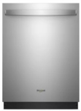 "WDT750SAHZ Whirlpool 24"" Fully Integrated Dishwasher with Adjustable Upper Rack and 15 Place Setting Capacity - Fingerprint Resistant Stainless Steel"