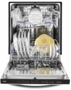 """WDT750SAHZ Whirlpool 24"""" Fully Integrated Dishwasher with Adjustable Upper Rack and 15 Place Setting Capacity - Fingerprint Resistant Stainless Steel"""