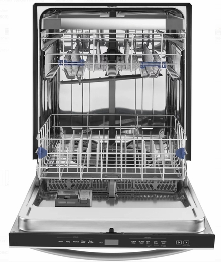 "WDT970SAHB Whirlpool 24"" Undercounter Dishwasher with Sani Rinse and Third Rack - Black"