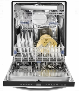 """WDT970SAHB Whirlpool 24"""" Undercounter Dishwasher with Sani Rinse and Third Rack - Black"""