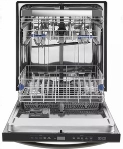 "WDT970SAHV Whirlpool 24"" Undercounter Dishwasher with Sani Rinse and Third Rack - Black Stainless Steel"