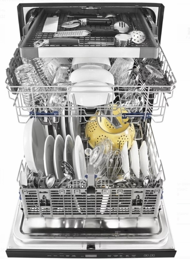 Wdt970sahw Whirlpool 24 Undercounter Dishwasher With Sani Rinse And Third Rack White