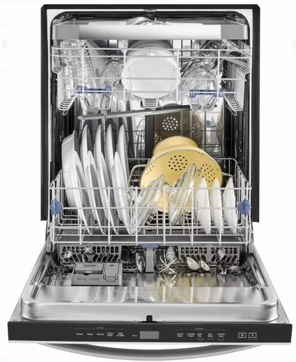 "WDT970SAHZ Whirlpool 24"" Undercounter Dishwasher with Sani Rinse and Third Rack - Fingerprint Resistant Stainless Steel"