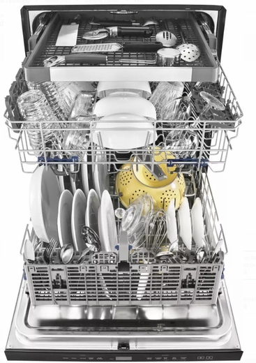 Wdt970sahz Whirlpool 24 Undercounter Dishwasher With Sani Rinse And Third Rack Fingerprint Resistant Stainless Steel