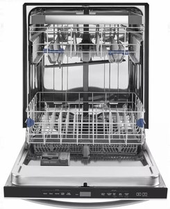 """WDT970SAHZ Whirlpool 24"""" Undercounter Dishwasher with Sani Rinse and Third Rack - Fingerprint Resistant Stainless Steel"""