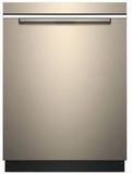 """WDTA50SAHN Whirlpool 24"""" Built In Fully Integrated Dishwasher with 5 Wash Cycles and Heated Dry Option - Fingerprint Resistant Sunset Bronze"""