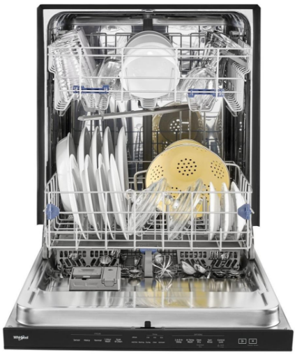 "WDTA50SAHW Whirlpool 24"" Built In Fully Integrated Dishwasher with 5 Wash Cycles and Heated Dry Option - White"