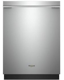 """WDTA75SAHZ Whirlpool 24"""" Smart Dishwasher with Sensor Cycle and TotalCoverage Spray Arm - Fingerprint Resistant Stainless Steel"""
