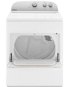 """WED4950HW Whirlpool 29"""" 7.0 cu. ft Electric Dryer with AutoDry Drying System and Wrinkle Shield Option - White"""