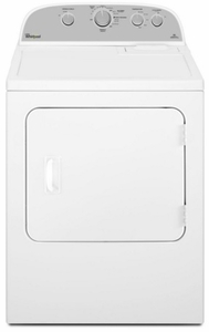 "WED4985EW Whirlpool 29"" 5.9 cu. ft. Top Load Electric Dryer with Flat Back Design - White"