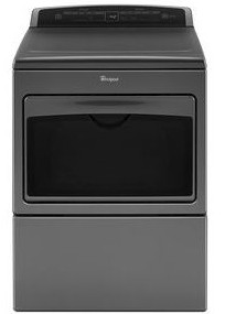 "WED7500GC Whirlpool 27"" 7.4 Cu. Ft. Large Capacity Electric Dryer with AccuDry and Sanitize Cycle - Chrome Shadow"
