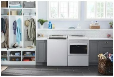 "WED7500GW Whirlpool 27"" 7.4 Cu. Ft. Large Capacity Electric Dryer with AccuDry and Sanitize Cycle - White"
