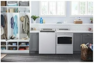 """WED7500GW Whirlpool 27"""" 7.4 Cu. Ft. Large Capacity Electric Dryer with AccuDry and Sanitize Cycle - White"""