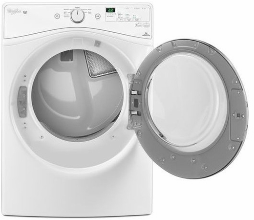 WED7590FW Whirlpool 7.4 Cu. Ft. Electric Dryer with Advanced Moisture Sensing System and Long Vent - White