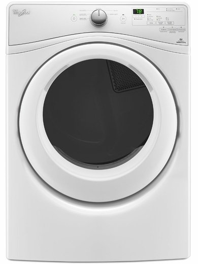 WED75HEFW Whirlpool 7.4 Cu. Ft. Electric Dryer with Advanced Moisture Sensing System - White
