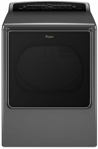 WED8500DC Whirlpool 8.8 cu. ft. Cabrio High-Efficiency Electric Steam Dryer - Chrome