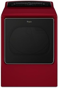 WED8500DR Whirlpool 8.8 cu. ft. Cabrio High-Efficiency Electric Steam Dryer - Cranberry Red