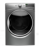 "WED85HEFC 27"" Whirlpool 7.4 cu. ft. Front Load Electric Dryer with 8 Dry Cycles and EcoBoost - Chrome Shadow"