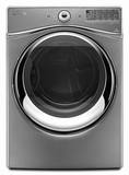 WED94HEAC Whirlpool 7.4 cu. ft. Duet� Electric Dryer with Advanced Moisture Sensing - Chrome Shadow - CLEARANCE OPEN BOX ITEM