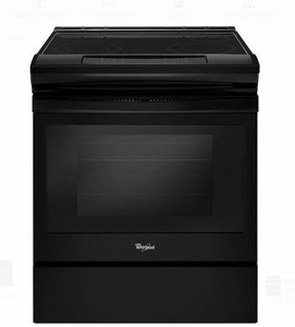 "WEE510S0FB 30"" Whirlpool 4.8 cu. ft. Slide-In Electric Range with Sabbath Mode - Black"