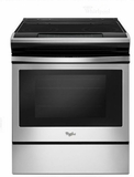 """WEE510S0FS 30"""" Whirlpool 4.8 cu. ft. Slide-In Electric Range with Sabbath Mode - Stainless Steel"""